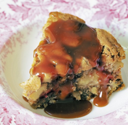 Warm Apple And Plum Pudding