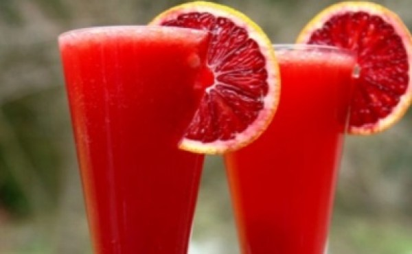 Bubbly Blood Orange Wine Cocktail