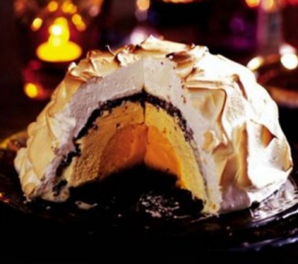 Chocolate Orange Baked Alaska