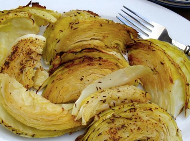 Dijon Roasted Cabbage
