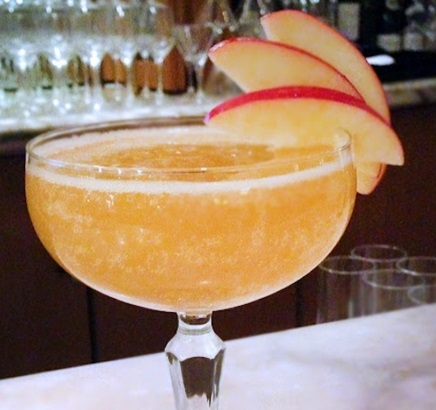 Peach Melba Non-Alcoholic Cocktail