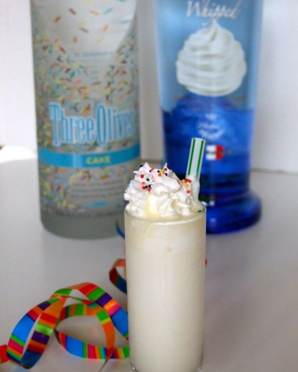 Whipped Vodka Birthday Shots