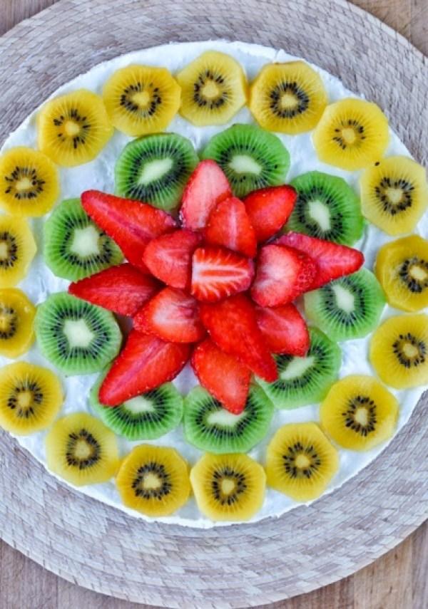 Fruit Covered Coconut Torte