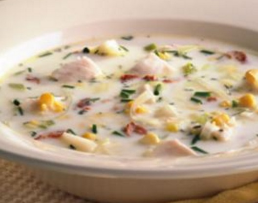 Tilapia Corn Chowder Soup