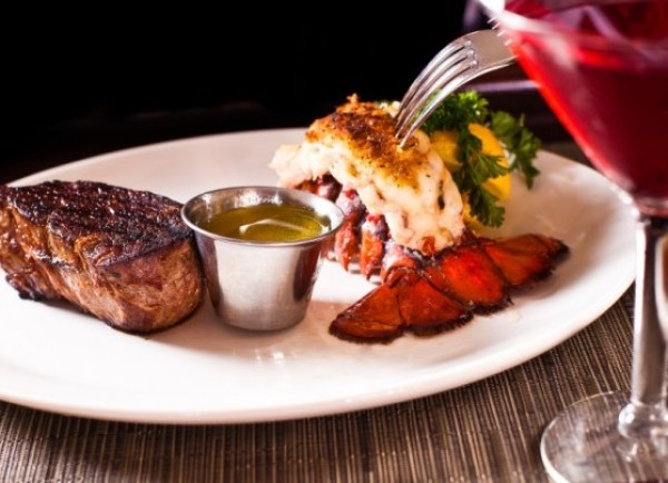 Surf and Turf: Steak and Lobster Tails