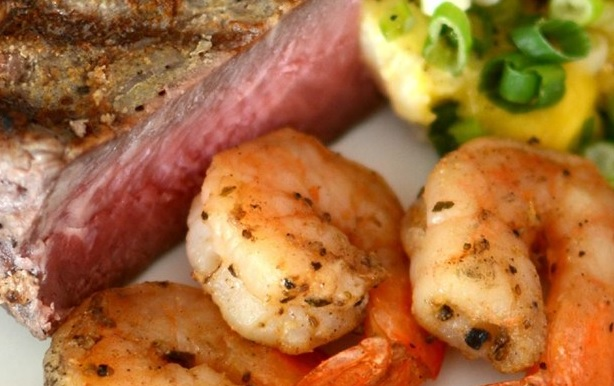 Surf and Turf: Steak and Shrimp