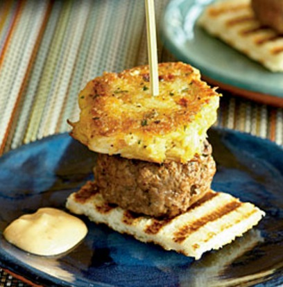 Surf and Turf: Burgers and Crab Cakes