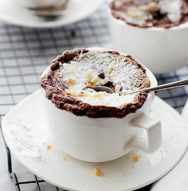Boozy Hazelnut Chocolate Soufflés
