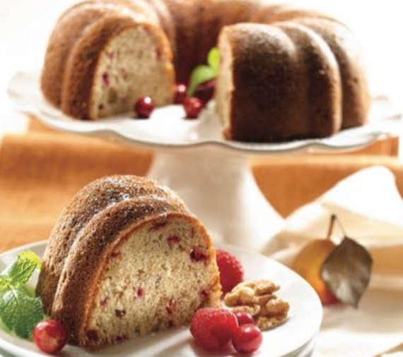 Cranberry & Walnut Pound Cake