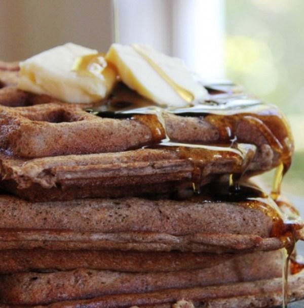 Cinnamon Oatmeal Nut Waffles