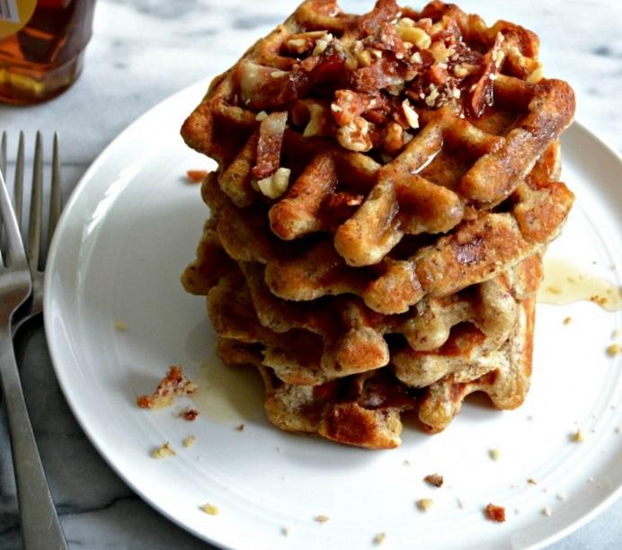 Bacon, Banana & Oatmeal Nut Waffles