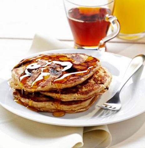 Chocolate Covered Raisin Oatmeal Pancakes