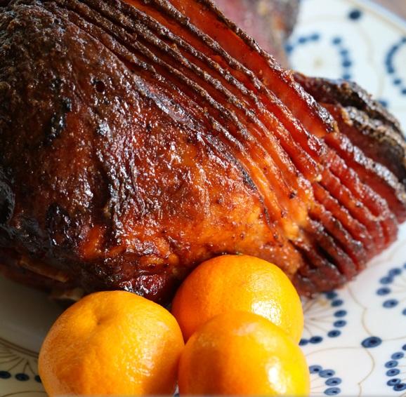 Orange and Brown Sugar Glazed Spiral-Sliced Ham