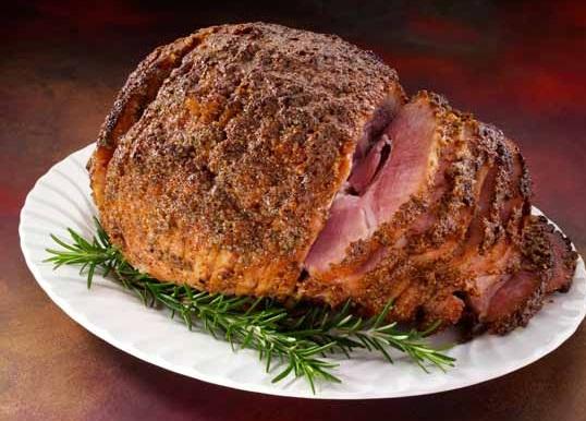 Rosemary & Mustard Glazed Spiral-Sliced Ham