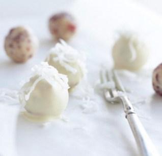 White Cranberry-Cashew Truffles