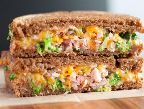 Broccoli & Ham Grilled Cheese Sandwich