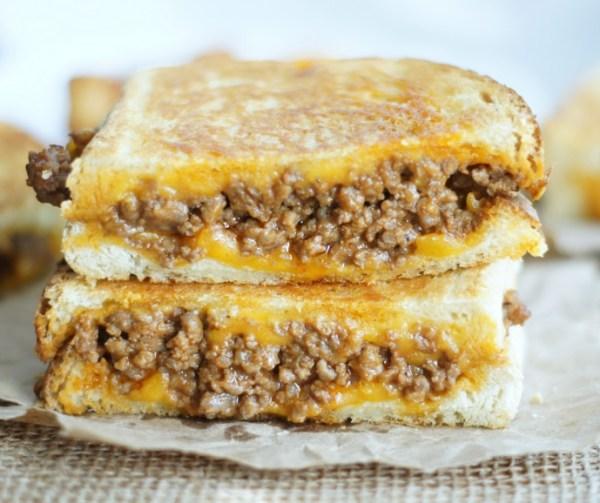 Sloppy Grilled Cheese Sandwich