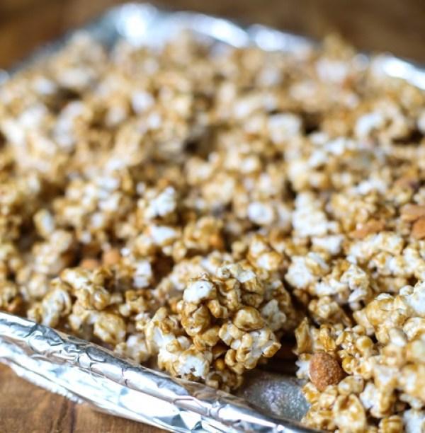 Crispy Salted Caramel Popcorn
