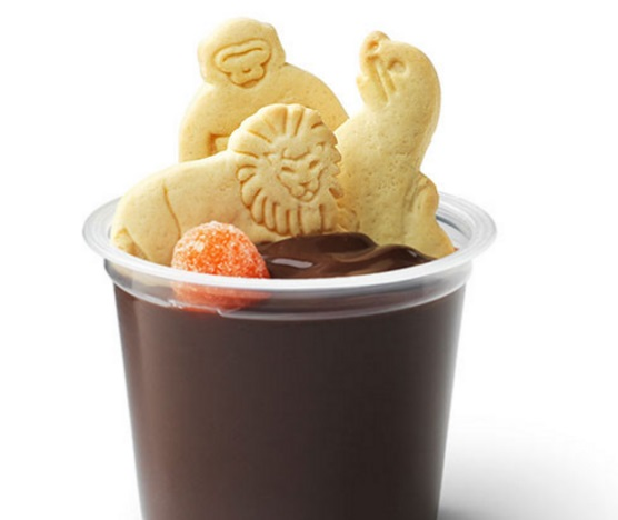 Animal Cracker Pudding Snacks