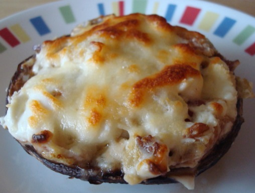 Bacon and Cheese-Stuffed Portobello Mushrooms