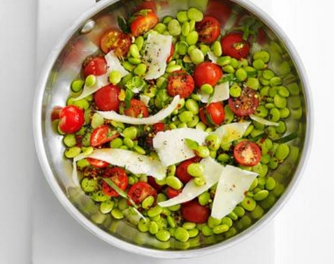 Tomato-Basil Lima Beans