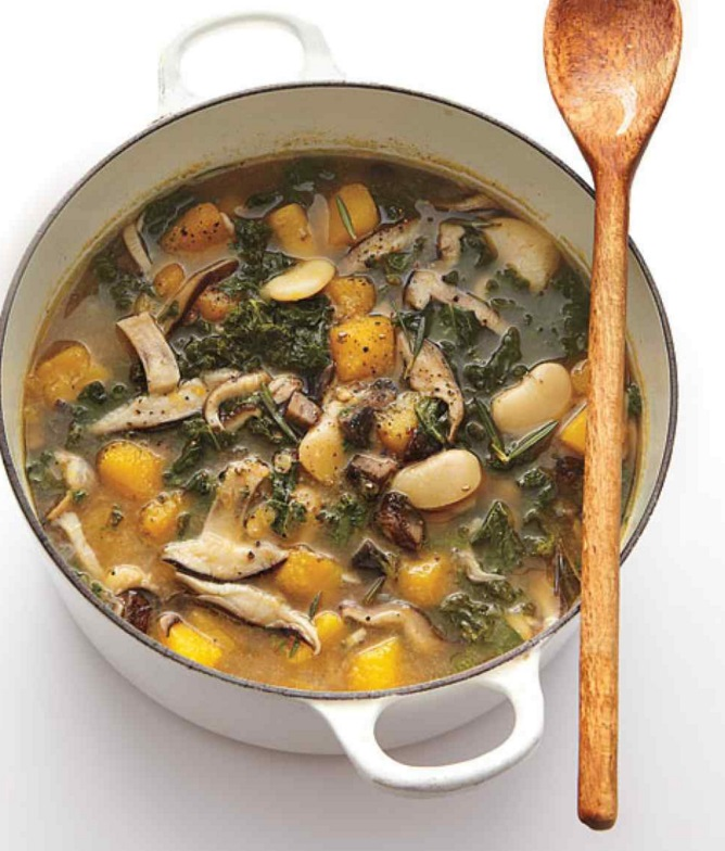 Mushroom and Lima Bean Stew