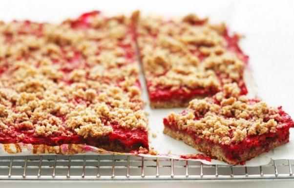 Raspberry & Pecan Dessert Squares
