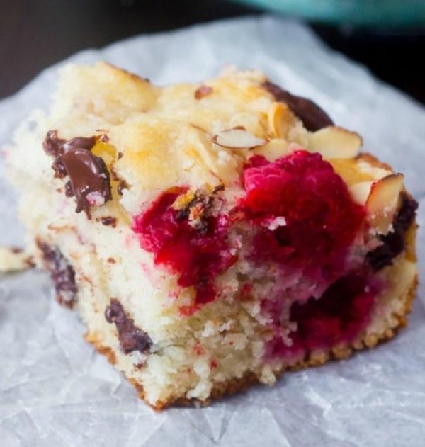 Dark Chocolate & Raspberry Coffee Cake