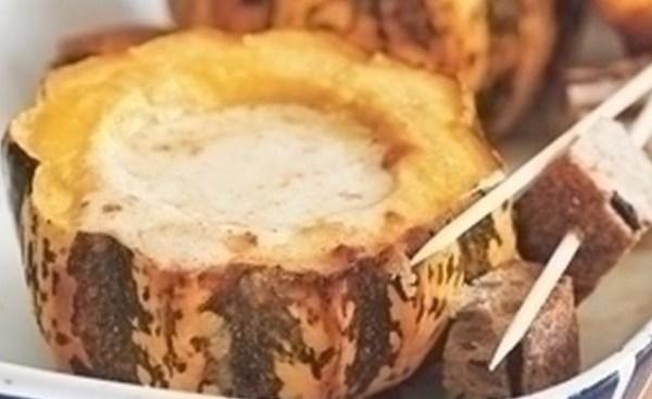 Cheese Fondue In Squash
