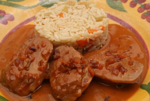 Pork Tenderloin & Savory Caramel Sauce