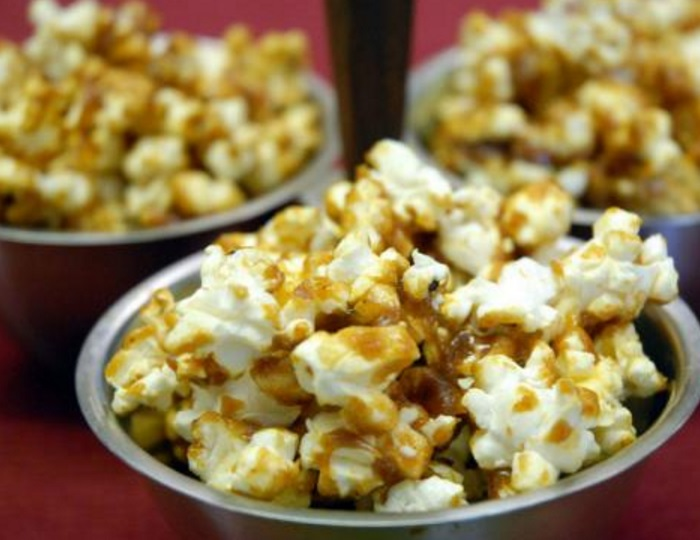 Curry Spiced Savory Caramel Popcorn