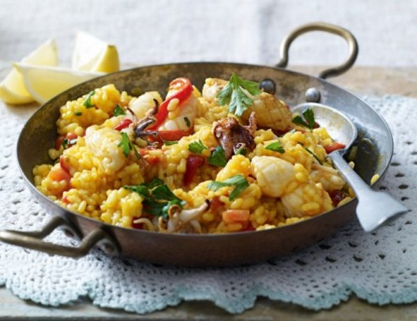 Red Pepper And Squid Paella