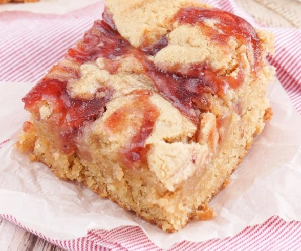 Peanut Butter and Jelly Blondies
