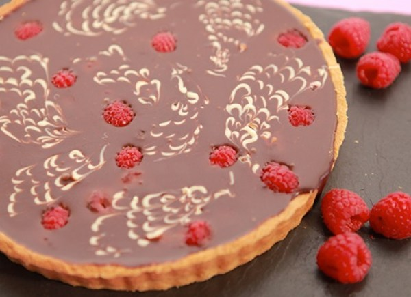 Raspberry & Fudge Tart