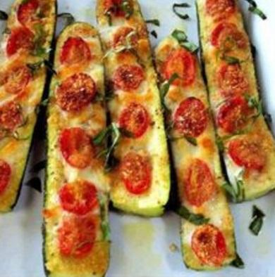 Pizza Stuffed Zucchini Boats