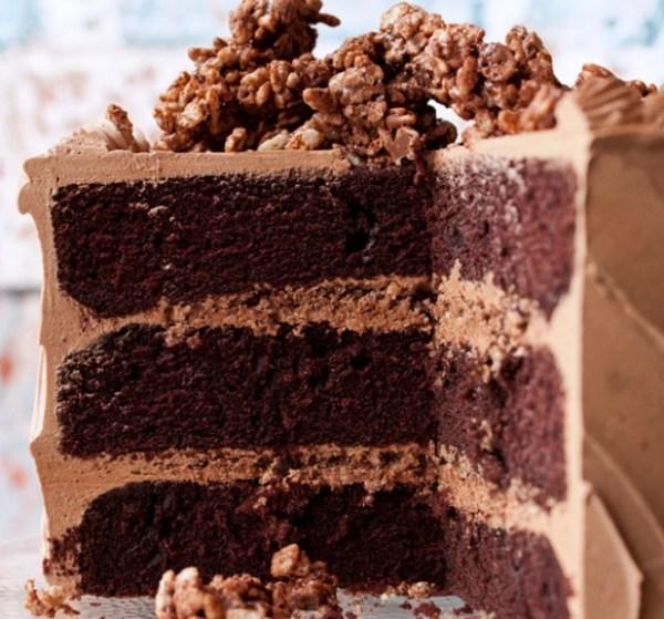 Hazelnut Crunch Devil's Food Cake