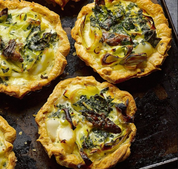 Smoked Haddock and Oyster Quiches