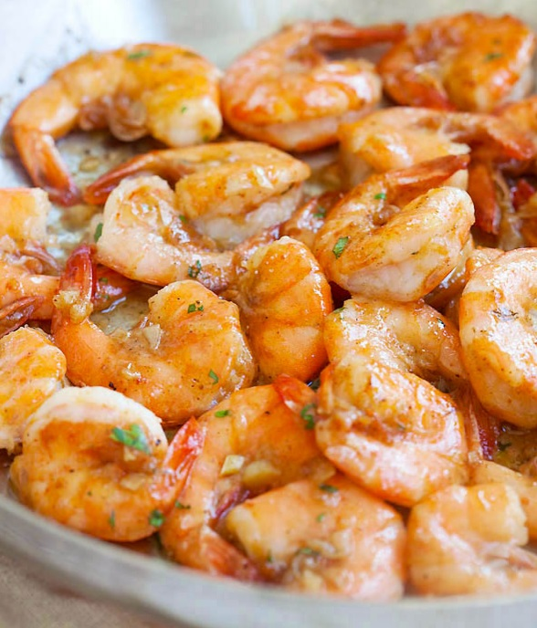 Hawaiian Shrimp Scampi
