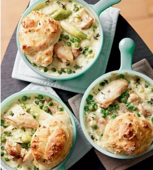 Creamy Chicken Cobbler