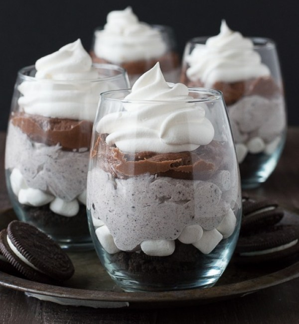 Chocolate Cheesecake Oreo Parfaits