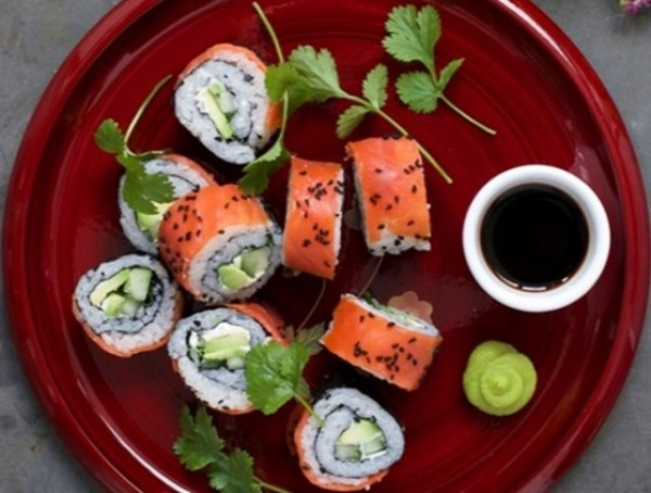 Smoked Salmon and Avocado Sushi