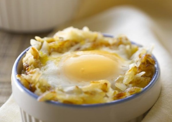 Egg in a Potato Nest