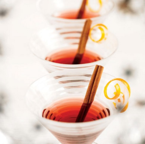 Peach & Pomegranate Dry Martini