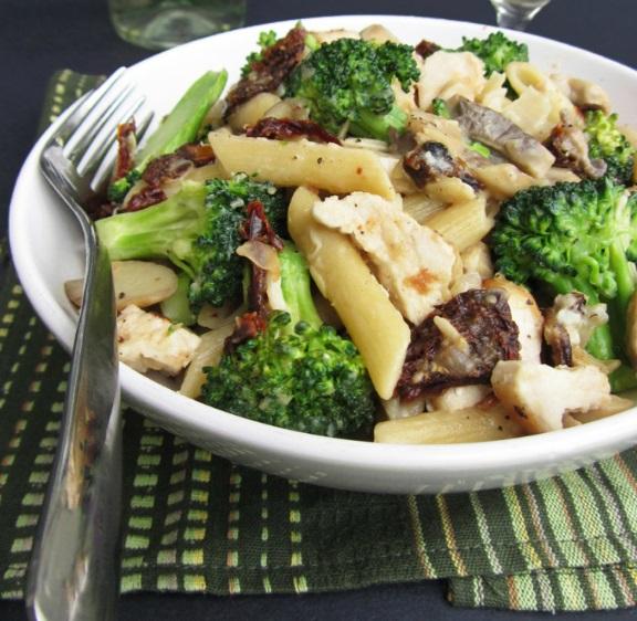 Chicken & Broccoli in a Mushroom White Wine Sauce