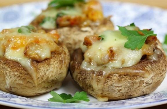 Garlic and Cheese Stuffed Mushrooms