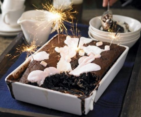 Marshmallows & Chocolate Pudding