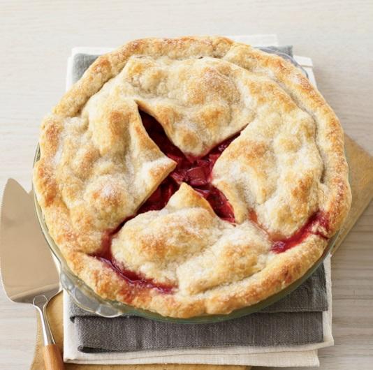 Deep-Dish Strawberry & Rhubarb Pie