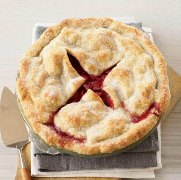 Deep-Dish Strawberry & Rhubarb Pie