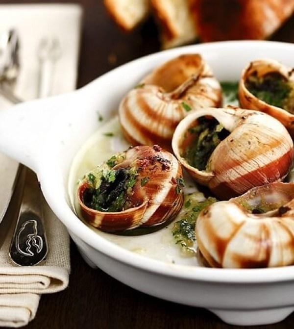 Escargot With Garlic Butter and Cognac