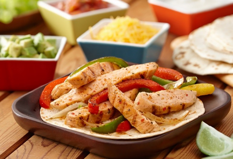The Worlds Easiest Chicken Fajitas